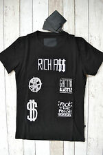 BNWT PHILIPP PLEIN 'RICH ASS BABY' T-SHIRT BLACK SIZE MEDIUM 2016