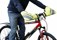 BICYCLE BIKE HANDLEBAR MUFFS WATERPROOF WINTER GLOVES WARM AND DRY HANDS yellow