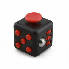 Black Red Magic Fidget Cube Anti-anxiety  Adults Stress Relief 6 sided desk Toy