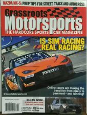 Grassroots Motorsports April 2017 Is Sim Racing Real Racing Car FREE SHIPPING sb