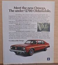 1972 magazine ad for Oldsmobile - Meet the '73 Omega, A  Whole New Kind of Olds