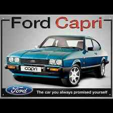 Metal Sign Ford Capri The Car you always promised yourself (40 x 30 cm)