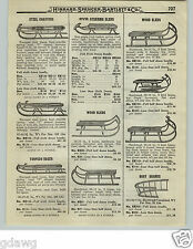 1919 PAPER AD OVB Our Very Best Wood Coaster Snow Sled Torpedo Racer Pedal Car