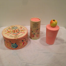 Lot of 3 Vintage Avon Pretty Peach Fragrance Collectibles