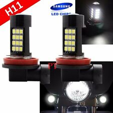 H11 Samsung 1 Pair LED 42 SMD White Xenon 6000K Headlight Light Bulb Motorcycle