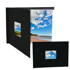 "Pinchbook Photo Album (8.5"" x 11.75"") (A4 Landscape) Black, With Window"