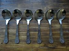 NEW SECONDS Soup Spoons King's Pattern x 6 stainless steel 169mm long £3 OFF