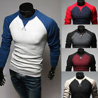 Hot New Style Men's Crew-Neck Long Sleeve Casual Slim Fit Tee T-shirt  Tops