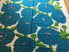 "Marimekko Fabric ""Primavera""  by the Yard, Perfect, New,100% Cotton, Blues"