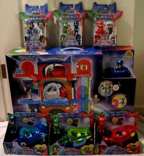 PJ MASKS HEADQUARTERS PLAYSET,ALL 3 VEHICLES AND 6 PACK FIGURE SET NEW!!