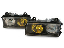 French Yellow/Clear Glass Lens DEPO 92-99 BMW E36 Euro Hella Projector Headlight