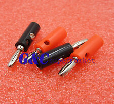 5pcs red and 5PCS 4mm black Banana Plug Speaker Connector New