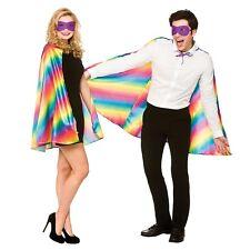 unisex ORGULLO GAY ARCOIRIS Super Héroe CAPA Y Máscara - Disfraz Traje - ac9308