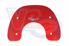 TRANSPARENT RED BUBBLE SPORTS FLYSCREEN -  VESPA PX T5 (Classic) LML
