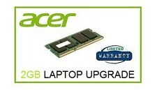 2 GB di memoria Ram Upgrade Per Acer Aspire One Happy (N550) & Happy 2 Netbook Laptop