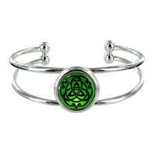 Celtic Circle Design Silver Plated Bangle Knot Celts Wicca Wiccan Pattern NEW