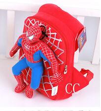 Enfants de la maternelle Toddler Enfants Spiderman Peluche école Sac à dos