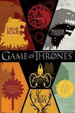 GAME OF THRONES HOUSE SIGILS POSTER  91.5 X 61 CM OFFICIAL MERCHANDISE