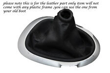 BLACK STITCHING FITS NISSAN JUKE 2010-2013+ LEATHER GEAR GAITER ONLY