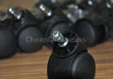 50mm Office Chair Swivel Castors Wheels Wide Twin Wheel Office Supplies FG
