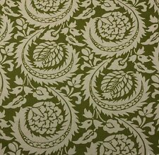 "LACEFIELD DESIGNS LISBON OLIVE GREEN FLORAL LEAF VINE FABRIC BY THE YARD 54""W"