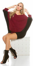 Ladies Stylish Relaxed fit Jumper mini Dress Sweater One size fits UK 10/12/14