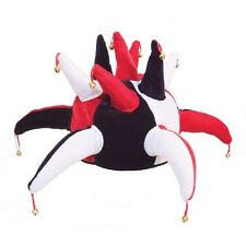 Novelty Jester Hat With Bells.Red White/ Blue White /Green White / Red White Blk