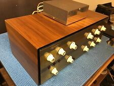 VINTAGE PAIR DYNAKIT TUBE PREAMPLIFIER/CROSSOVER/POWER SUPPLY/WOODCASE-COLLECTOR