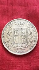 Queen Victoria 1844 Half Crown .925 Sterling Silver Coin