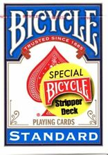STRIPPER BLUE BICYCLE DECK GAFF FORCE TAPERED PLAYING CARDS USPCC - MAGIC TRICKS