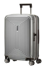 SAMSONITE ´NEOPULSE´ 4-ROLLEN TROLLEY SPINNER 55 / 20 Metallic Silber UVP 219,-€