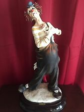 Giuseppe Armani Florence Italy Romantic Clown Artist Proof Rare Large Sculpture