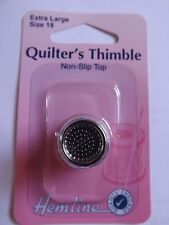 Hemline Sewing Accessory Sewing Quilting Thimble Extra Large Size Metal