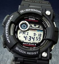 Casio GWF1000-1 Men's Atomic Tough Solar Tide Moon Frogman Black G Shock Watch