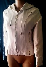 Authentic CHANEL white  Jacket  hooded size M vintage