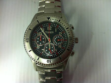 New TIMEX Stainless Steel  Chronograph  Mens Watch-T2N159  RRP.£99.99