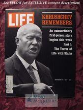 LIFE November 27 1970 Nov 70 11/27/70 KHRUSHCHEV REMEMBERS ETHIOPIA