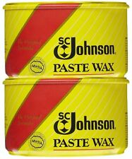 2-PACK Johnson Fine Wood Paste Wax 16 oz protection FLOOR/FURNITURE/METAL/MORE