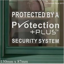 6 x 130mm Protection Plus™ Design Security Window Stickers-Alarm Warning Signs