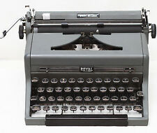 Vintage Royal Quiet De Luxe Manual Typewriter with Glass Keys & New Ribbon 1950s