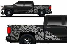 Vinyl Decal Nightmare Wrap Kit for Chevy Silverado Truck 1500/2500 14-16 Silver