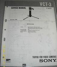 SONY VCT-3 Tripod for Video Cameras Service Manual