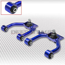 ADJUSTABLE FRONT UPPER CAMBER ARM KIT 03-07 HONDA ACCORD CL7/ACURA TSX CL9 BLUE