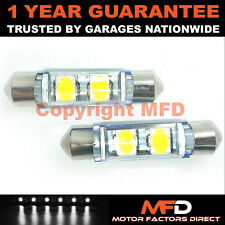 2X WHITE CANBUS NUMBER PLATE INTERIOR 2 LED SAMSUNG CHIP BULBS 42MM 24W2