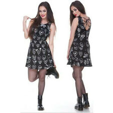 JAWBREAKER Black Tempell Skulls Punk Goth Pinup Rockabilly DRESS