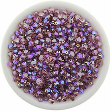 Swarovski Crystal 5328 XILION Bicones 4mm - LIGHT ROSE AB SATIN (24 PCS)