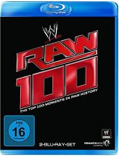 WWE RAW 100 The Top 100 Moments In RAW History 2x BLU-RAY DEUTSCHE VERSION