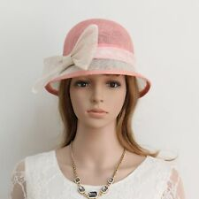New Woman Church Derby Cocktail Party Sinamay Ascot Cloche Dress hat 134pink