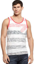 INC GRAY & WHITE STRIPES SLEEVELESS TANK TOP MEN'S SIZE L NWT