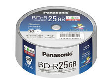 Made in Japan 30 Panasonic Blu Ray 25GB BD-R Rohlinge Printable Bluray 6x Speed